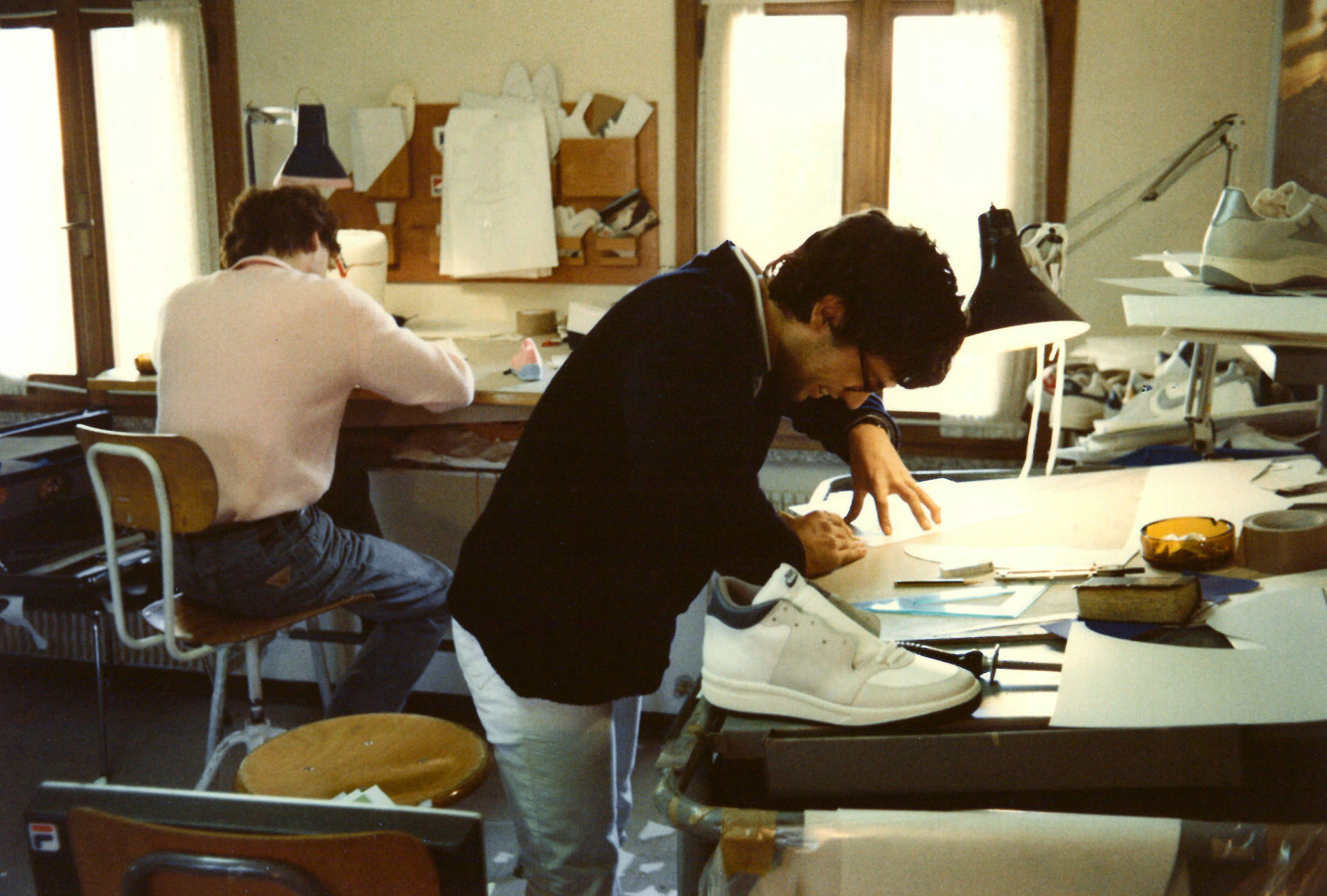 <span><b>1979</b>Claudio Franco starts working for sport style, his brother's company where he learns shoe design and pattern engineering. </span>